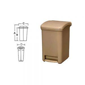 KON08 Kapaklı Çöp Kovası