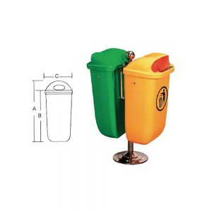 KON51 Hanging Wastebin Container